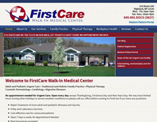 FirstCare Walk-In Medical Center Website Redesign 2014