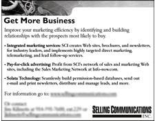 Selling Communications, Inc. IMA Ad